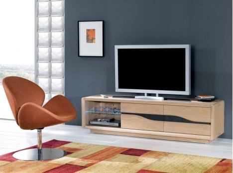 Habillez votre mur coin TV avec Meuble TV bois sur rouen boos dans