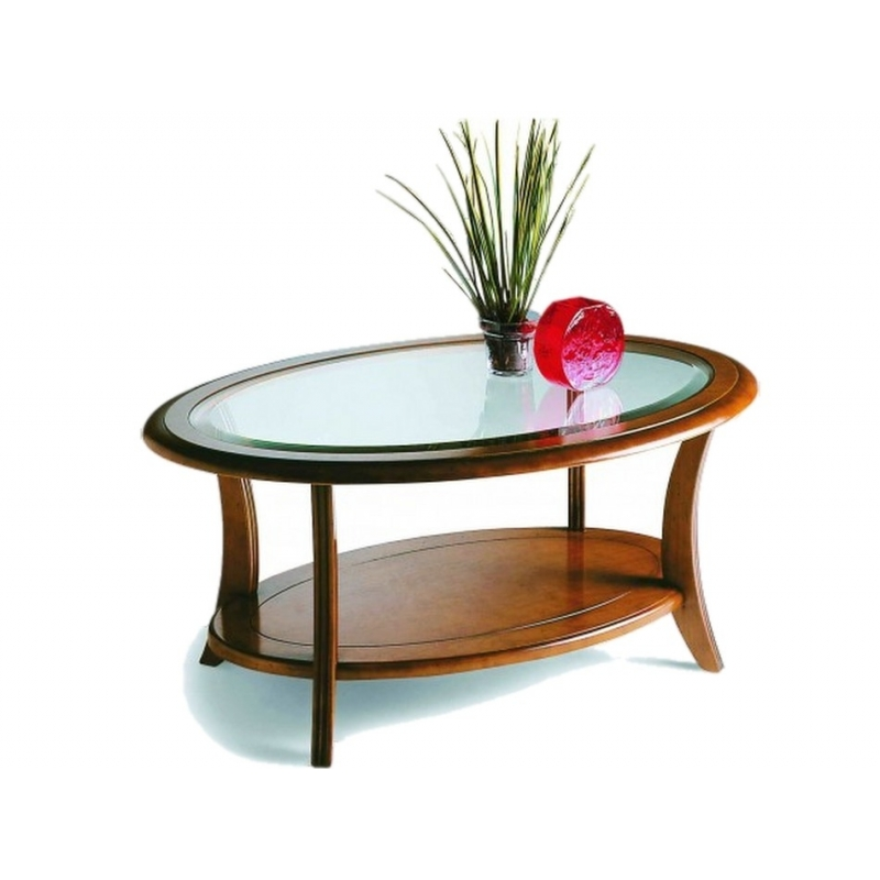 Table basse ovale merisier - Table basse merisier ...