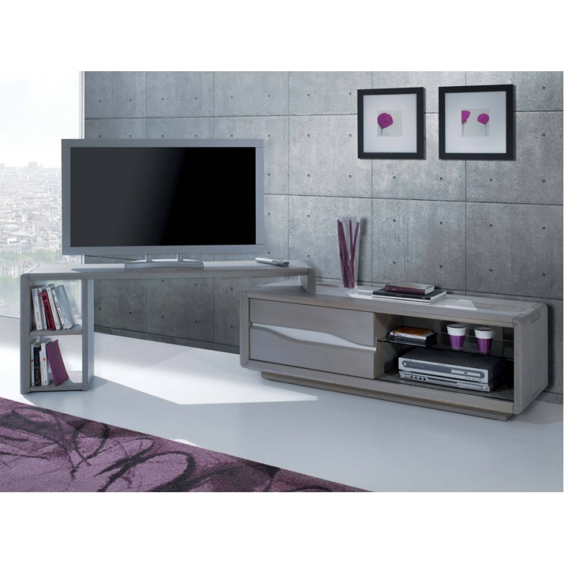 meuble tv de coin en bois maison design. Black Bedroom Furniture Sets. Home Design Ideas