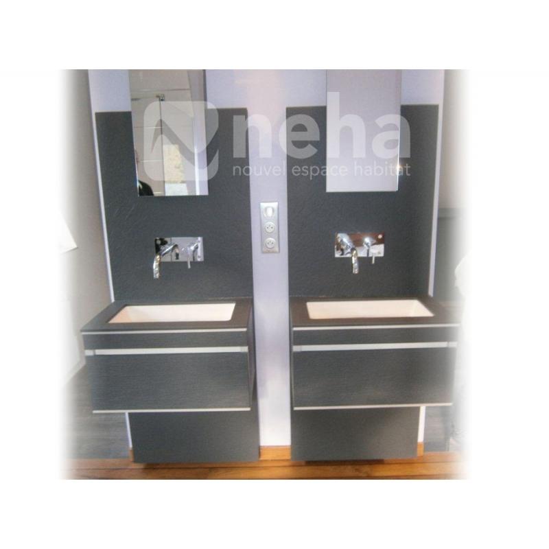 Salle de bain dans chambre parentale amnagement de for Suite parentale salle de bain ouverte