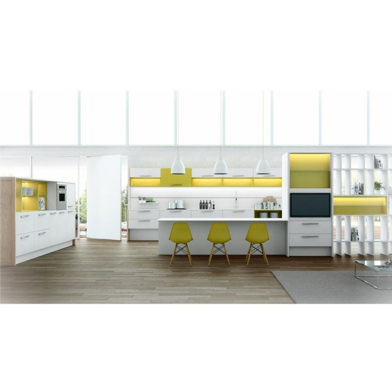 Cuisine blanche design cuisine blanche brillante design - Cuisines blanches design ...