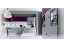 Cuisine structuré gris métallisé ou aubergine