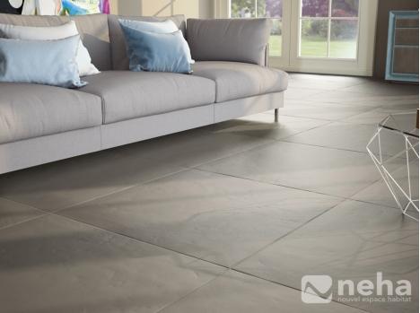 Carrelage sol gris clair panneau composite salle de bain - Carrelage sol gris clair brillant ...