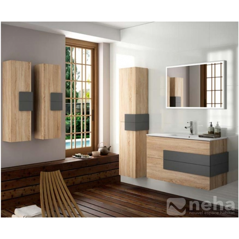 salle de bain meuble en bois good meuble salle de bain. Black Bedroom Furniture Sets. Home Design Ideas