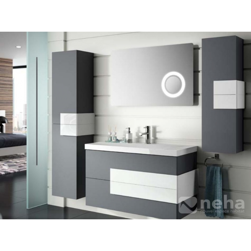 meuble salle de bain bois gris. Black Bedroom Furniture Sets. Home Design Ideas