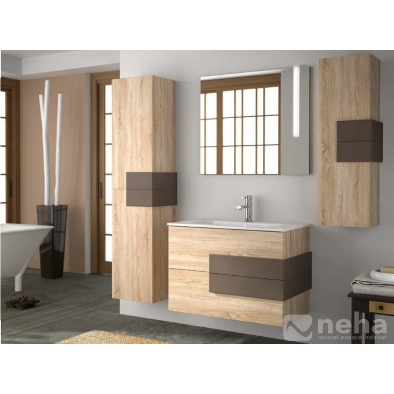 meuble de salle de bain bois brut obtenez des id es de design int ressantes en. Black Bedroom Furniture Sets. Home Design Ideas
