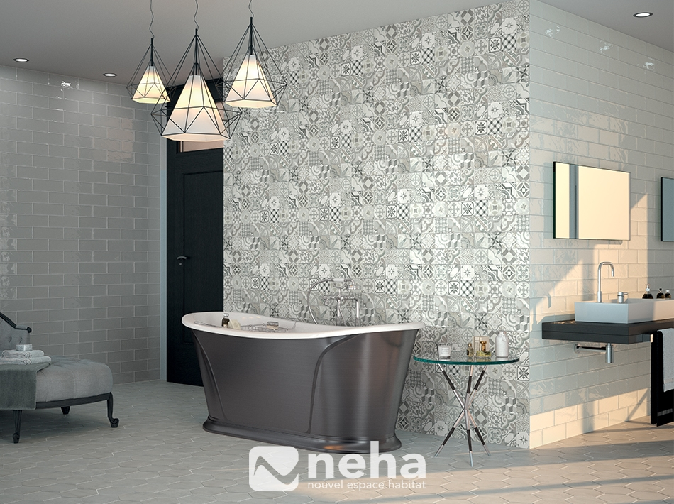 Carrelage design faience carrelage moderne design pour for Carreau salle de bain gris