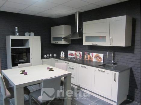 cuisine aménagée chene massif grise - neha - Image De Cuisine Amenagee