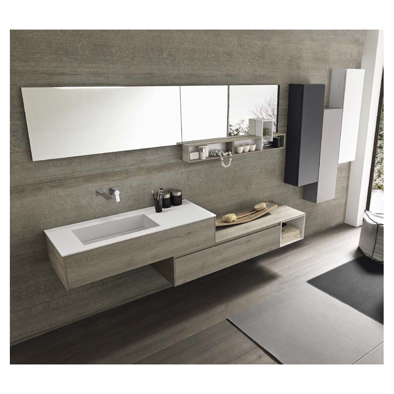 D sign lustres blanc for Meuble salle de bain original
