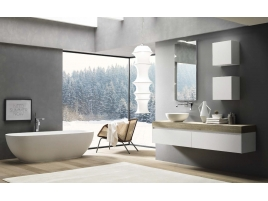 Emejing meuble salle de bain asymetrique ideas nettizen for Acheter meuble salle de bain