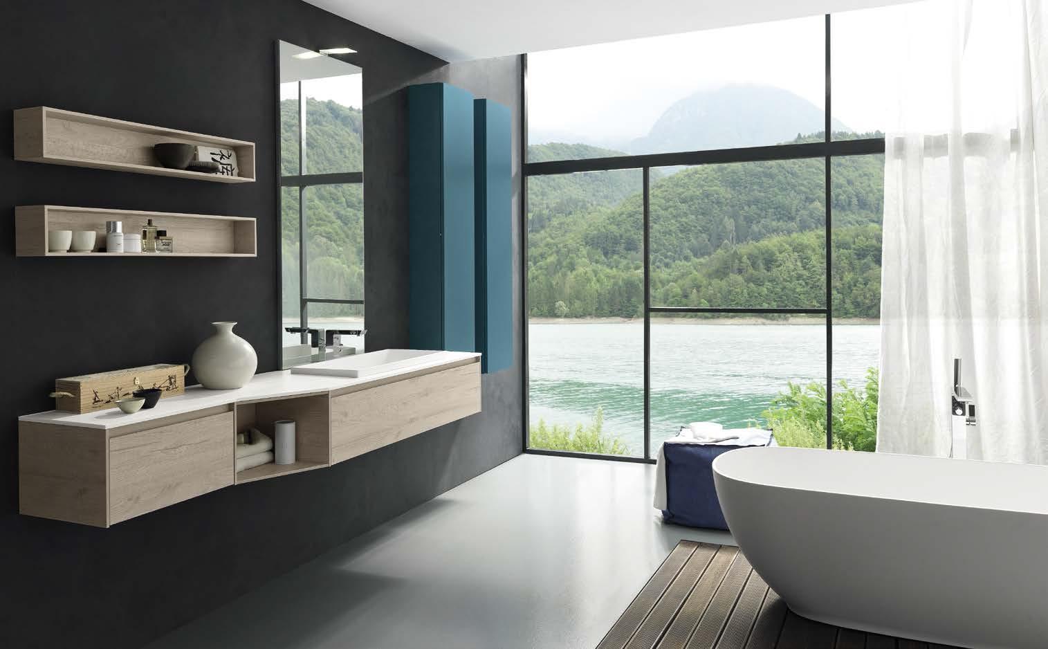Meuble salle de bain wenge pas cher for Meuble salle de bain design italien