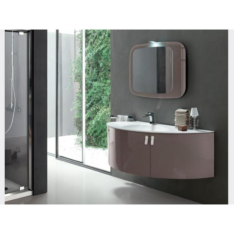 Meuble salle de bain angle Taupe L120 - NEHA