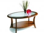 Table basse ovale merisier