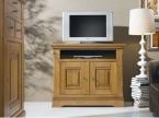 Meuble TV HIFI chêne massif doré de qualité