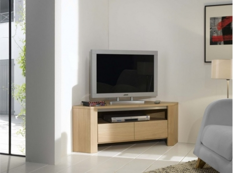 Meuble TV d'angle chene
