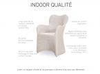 Chaise CHESTER avec accoudoir loom (lot de 2)