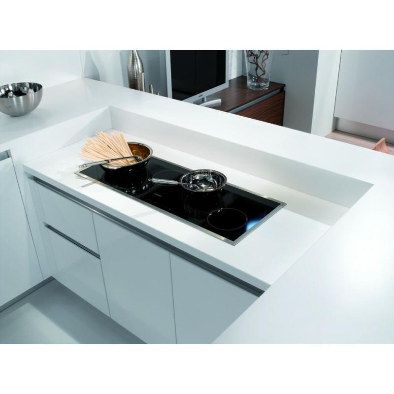 Cuisine laqu blanche brillante ou mat sur mesure conception normandie - Cuisine blanche laque ...