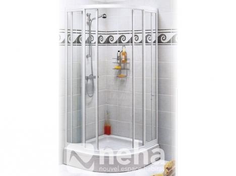 Paroi de douche arrondie coulissante