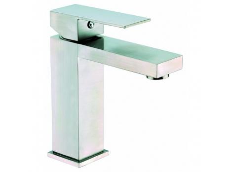 Robinet salle de bain carré nickel