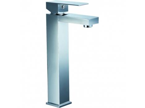 Robinet haut salle de bain carré nickel