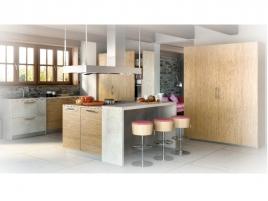 Cuisine équipée en bois moderne