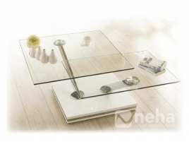 Table salon verre design L75cm