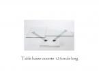 Table salon verre design évolution L75cm