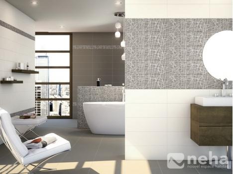 Faience murale blanc mat