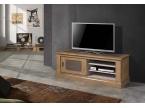 Meuble TV style atelier industriel en chêne massif de qualité