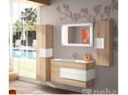 Meuble de salle de bain bois chene