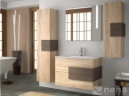 Meuble de salle de bain bois et marron