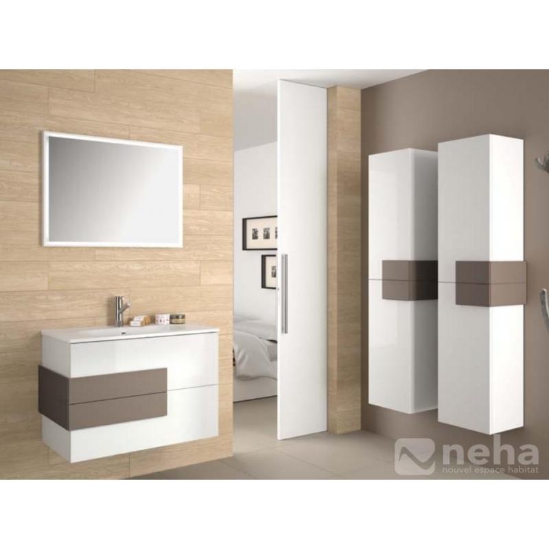 Meuble pour salle de bain bois et poignée déparaillé divers ...