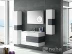 Meuble de salle de bain blanc et gris