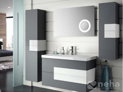 Meuble salle de bain bi-color deux couleurs différentes ...