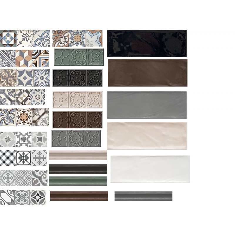 faience gris anthracite 10x30cm esprit metro. Black Bedroom Furniture Sets. Home Design Ideas