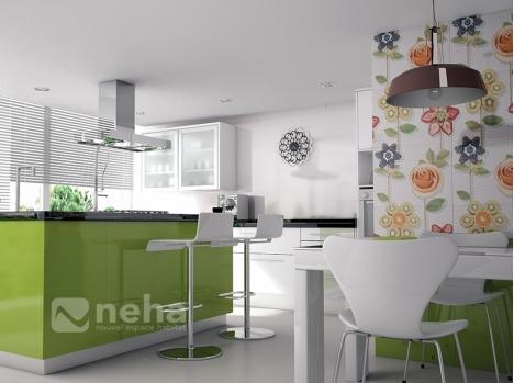 faience cuisine carreau 20x50cm carrelage mural original. Black Bedroom Furniture Sets. Home Design Ideas
