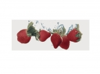 Décor faience rouge fraise