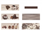 Faience décor chocolat 10x30cm