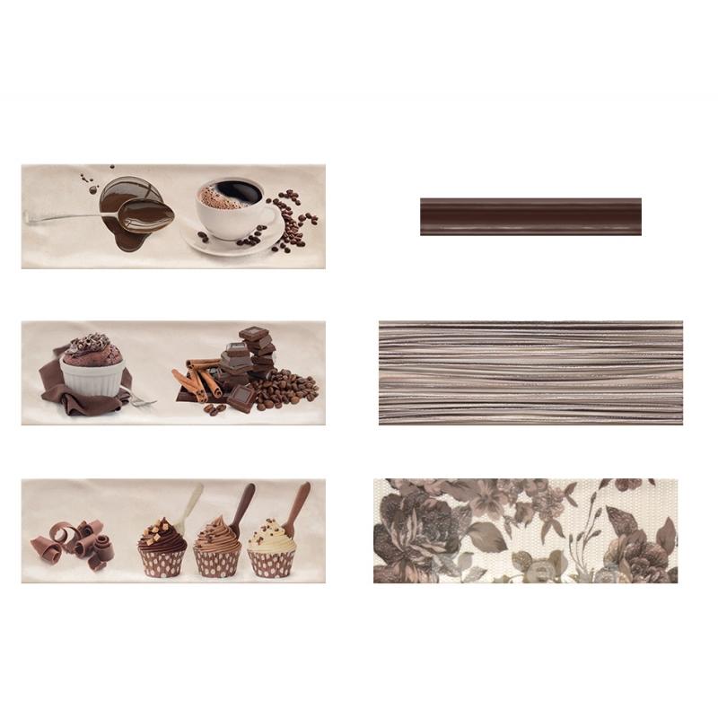 Faience chocolat cuisine ou salle de bain carreau 10x30cm - Faience salle de bain chocolat beige ...