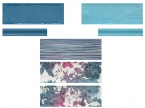 Faience décor bleu 10x30