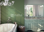 Faience vert olive 10x30