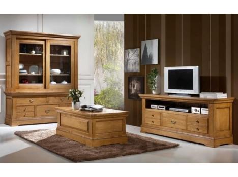 meuble tv chene massif classique. Black Bedroom Furniture Sets. Home Design Ideas
