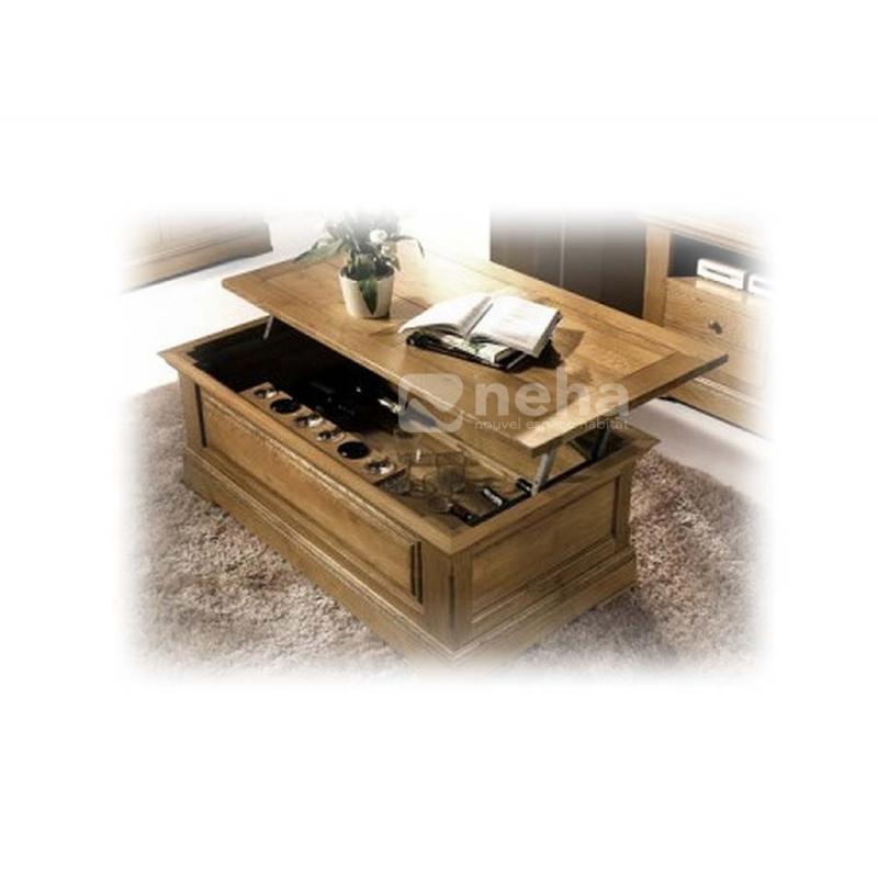 Classique Rectangulaire Bar Table Basse Chene PkNwnOX80