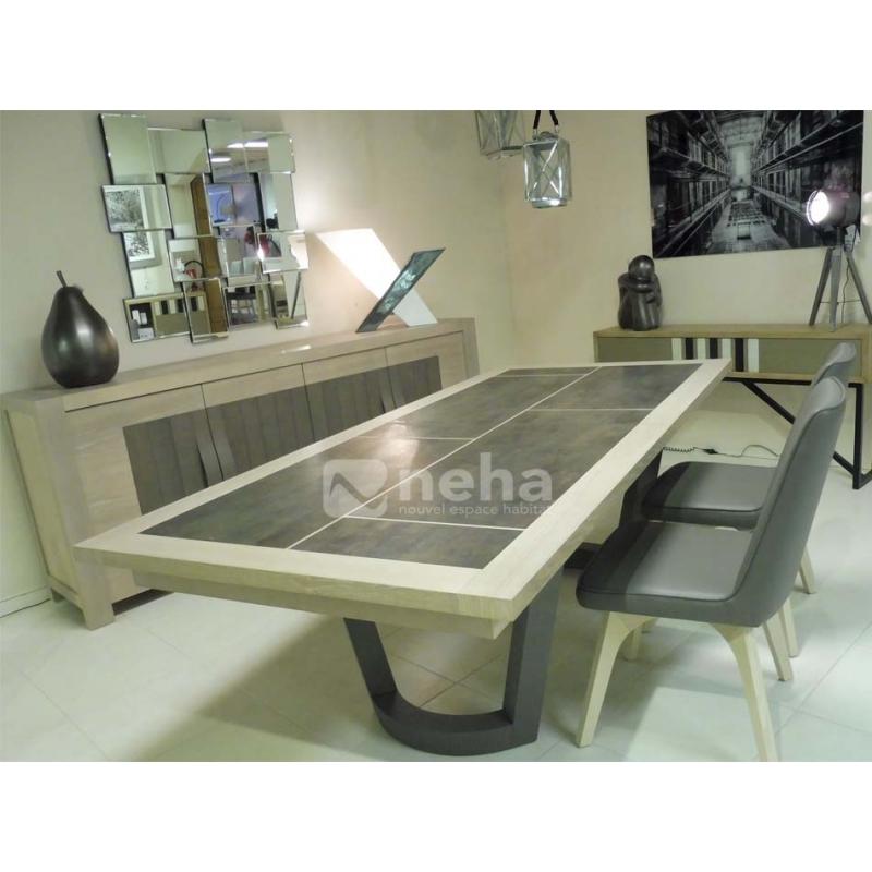 salle a manger complete bois et c ramique. Black Bedroom Furniture Sets. Home Design Ideas