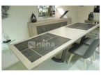 table ceramique pied central avec allonge
