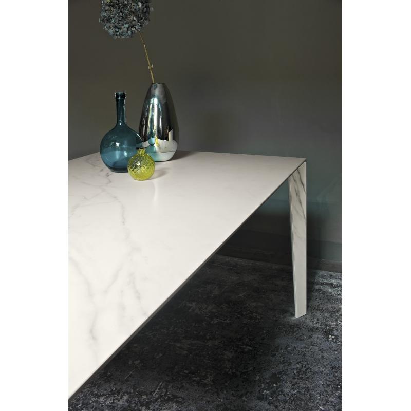 Table Salle à Manger Marbre: Table Repas Marbre Design Italien Rectangulaire Avec Rallonge