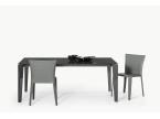 Table repas design verre italien rectangulaire