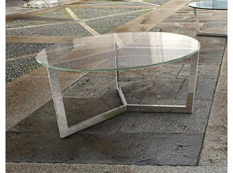 Table basse ronde verre contemporain