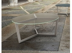 Table basse ronde verre contemporain