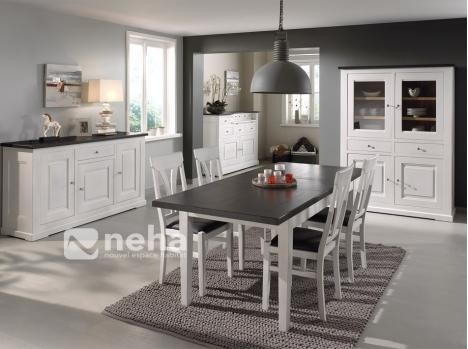 salle manger bois massif blanc s jour complet bois massif blanc rouen. Black Bedroom Furniture Sets. Home Design Ideas